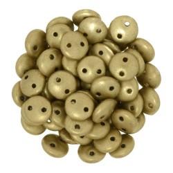 Perline Lentil  6 mm  Matte Metallic Flax- 50 Pz