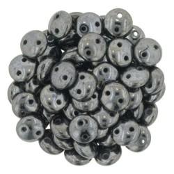 CzechMates Lentil  6 mm Hematite - 50 pcs