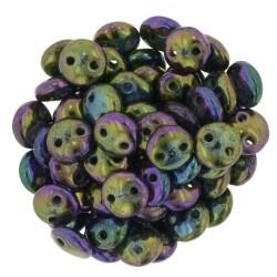 Perline Lentil  6 mm Iris Purple  - 50 Pz