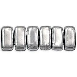 CzechMates Bricks 3x6 mm Silver - 50 pcs