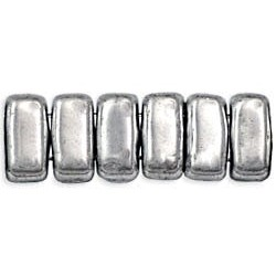 Perline Bricks 3x6 mm Silver - 50 Pz