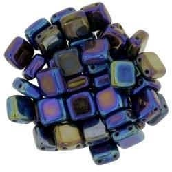 Perline Tile 6 mm Iris Blue  -  40 Pz
