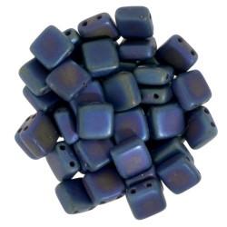 Perline Tile 6 mm Matte Iris Blue  -  40 Pz
