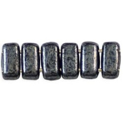 Perline Bricks 3x6 mm Hematite -  50 Pz