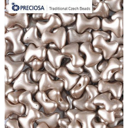 Tee Beads  2x8 mm Pastel Light Brown  -  40 pcs