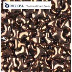 Tee Beads  2x8 mm  Dark Bronze  -  40 pcs
