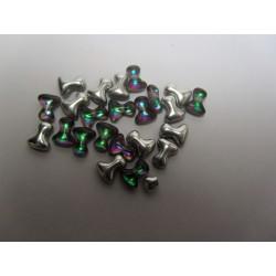 Tee Beads  2x8 mm   Crystal  Vitrail Medium   -  40 pcs