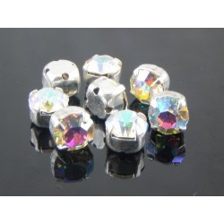 Chatons with setting  ss34  (7,2-7,4mm)  Crystal AB -  5 pcs