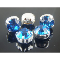 Chatons with setting  ss40  (8,4-8,8mm)  Capri Blue  -  5 pcs