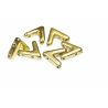 AVA®  Bead  10x4 mm  Silver Alluminium Mat   - 10 Pcs