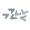 AVA®  Bead  10x4 mm  Baby Blue  Luster  - 10 Pz