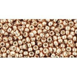 Rocailles Toho 11/0 Permanent Finish Galvanized Rose Gold