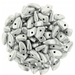 Prong  3x 6 mm Matte Metallic Silver   -  5 g
