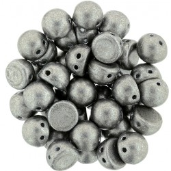 CzechMates Cabochon  2 Holes  7 mm   Color Trends Saturated Metallic  Sharkskin -  10 pz