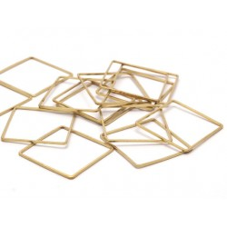 Brass Square  Link   25 mm   - 1 pc