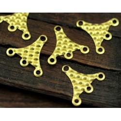 Brass  Textured Triangle  Link  16x17 mm   - 2  pcs