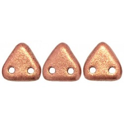 Perline Triangle 6 mm  Matte Metallic Copper - 5 gr