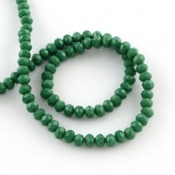 Glass Faceted Oval Beads 3 x 2 mm   Sea Green   - 1 Strand of about  38 cm