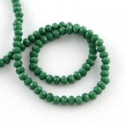 Rondelle Sfaccettate in Vetro 3 x 2  mm  Sea Green   - 1 Filo da circa 38 cm