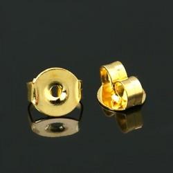 Farfallina Ottone  4,5x5,5x3mm Color Oro - 10 pz