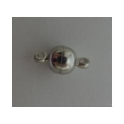 Chiusura Magnetica Rotonda Liscia  6x11,5 mm,  Color Nichel  -  1 pz