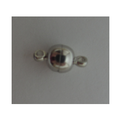 Magnetic Round  Clasp    6x11,5mm, Nickel Color Plated - 1 pc