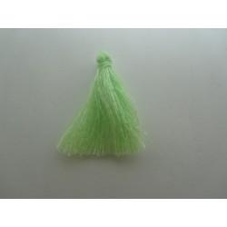 Cotton Thread Tassel Pendant  25-31 mm  Light Green    - 1 pc