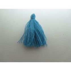 Cotton Thread Tassel Pendant  25-31 mm  Medium Blue    - 1 pc