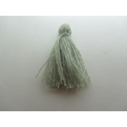 Cotton Thread Tassel Pendant  25-31 mm  Grey   - 1 pc