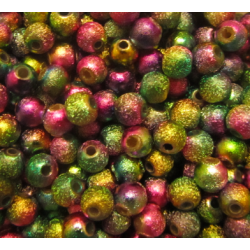 Perle Tonde Stardust  in Acrilico   6 mm Multicolor  - 100  pz