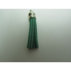 Polyester Tassel Pendant  6 cm Medium Green/Silver  - 1 pc