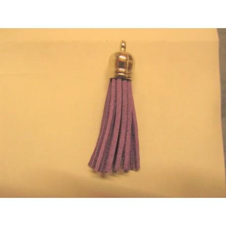 Polyester Tassel Pendant  6 cm Lilac-Purple//Silver  - 1 pc