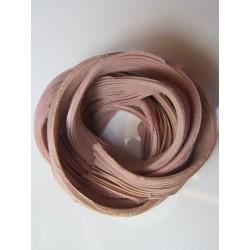 Shibori Silk Ribbon  Pale Rose Melange  - 10 cm