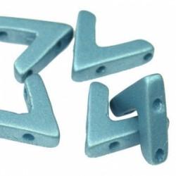 AVA®  Bead  10x4 mm  Metallic  Blue Turquoise    - 10 Pcs