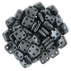 Perline QuadraTile  6 mm Hematite - 5 gr