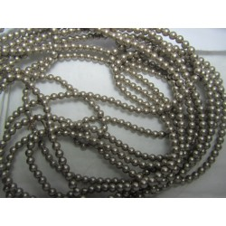 Swarovski  Pearls 5810  3 mm Platinum  - 20  Pcs