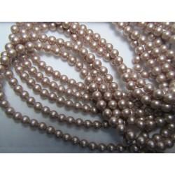 Swarovski  Pearls 5810  4 mm Powder Almond- 20  Pcs