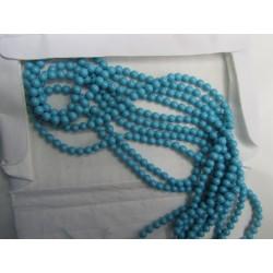 Perle Swarovski 5810  4 mm  Turquoise  Pearl  - 20  Pz