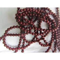Swarovski  Pearls 5810  4 mm  Bordeaux  - 20  Pcs