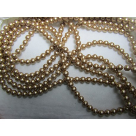 Swarovski  Pearls 5810  4 mm  Vintage Gold  - 20  Pcs