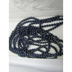 Swarovski  Pearls 5810  6 mm  Night Blue Pearl - 10  Pcs