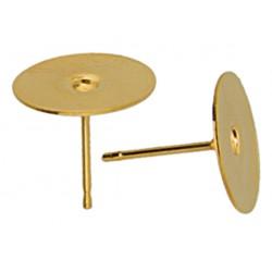 Gold Filled  14KT Hollow Ear-Pin  10 mm - 2 pcs