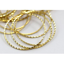 Brass Circle  Link  Bossed  40 mm   - 1 pc