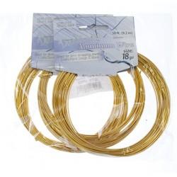 Aluminum  Wire  1,2 mm  (18 Gauge)  Silver   -  Bobina  9,2 m