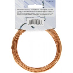 Aluminum  Wire  1,2 mm  (18 Gauge)  Light Copper   -  Spool of    9,2 m (30 ft)