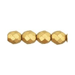 Fire Polished Faceted Round Beads  8 mm Matte Metallic Flax  - 20 pcs