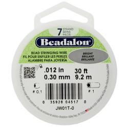 Wire  Beadalon  0,30 mm Bright  -  Bobina  9,2 m