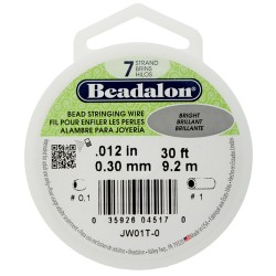 Wire  Beadalon  0,30 mm Bright  -  Bobina  9,2 m