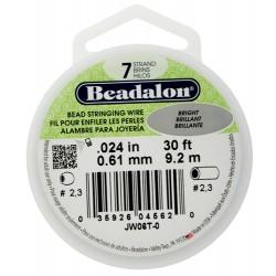 Bead Stringing Wire  Beadalon 7 Strands  0,61 mm Bright  -  Spool of   9,2 m