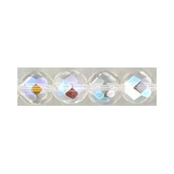 Mezzo Cristallo 8 mm Crystal AB - 20 Pz